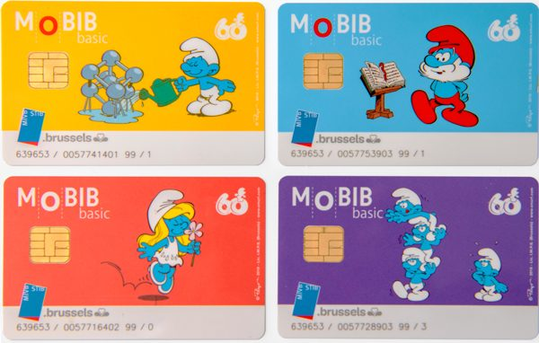 Cartes Mobib Schtroumpfs